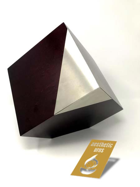 Tilted Cube With Metal Corner Modern Memorial