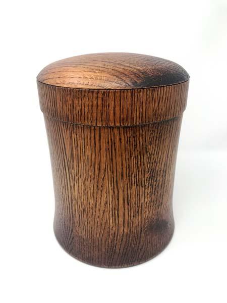 Simple Round Solid Oak With Dark Walnut Stain