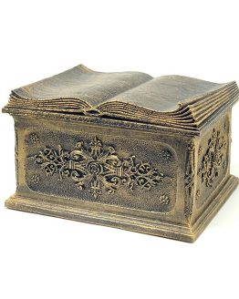 Composite Casket For Ashes Open Book