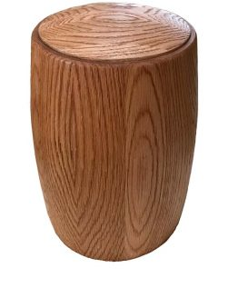 Solid American Oak Classic Cremation Urn