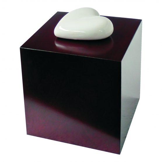Ceramic Heart Artistic Urn