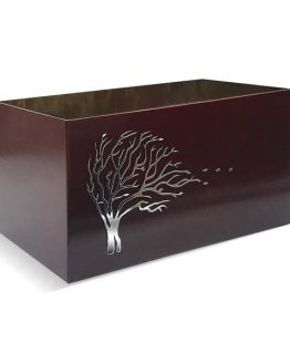 Wooden Cremation Casket Windswept Tree