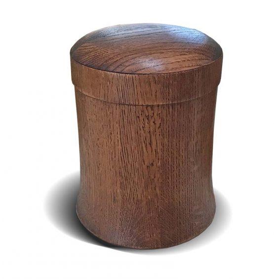 Solid Oak With Dark Walnut Stain