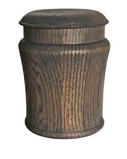 Round Pepperpot Solid Oak Classic Urn