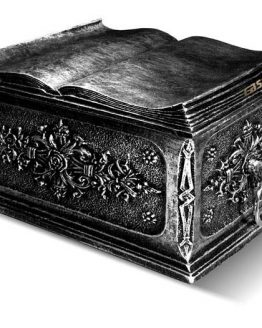 Casket For Ashes Open Book