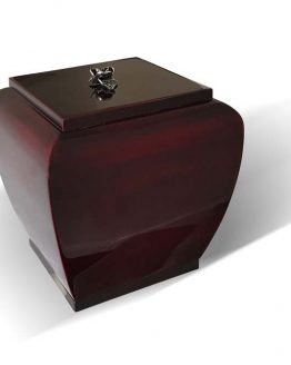 High Gloss Classic Urn With Metal Rose