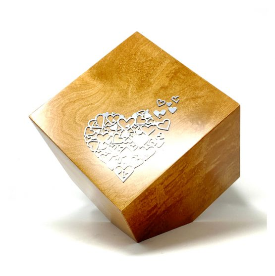 Modern Tilted Cube Urn For Adults