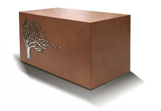 Wooden Cremation Casket Windswept Tree