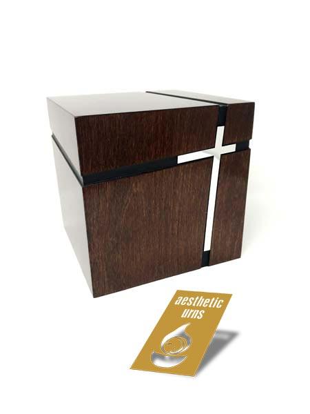 Latin Cross Cube Modern Urn