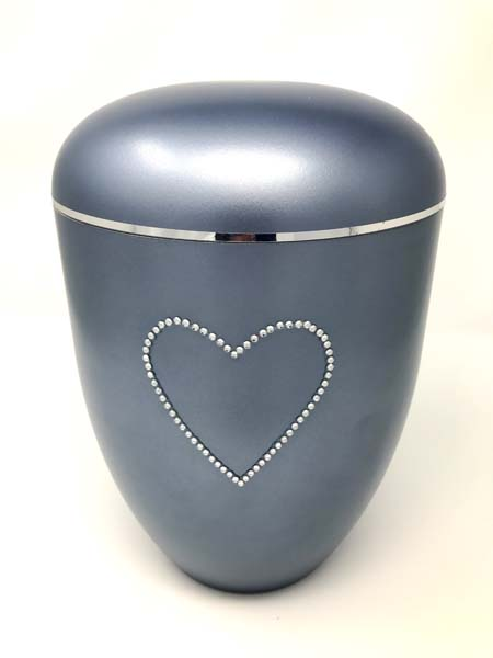 Bio Urn With Crystal Heart