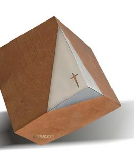 Tilted Cube Cross Funeral Casket