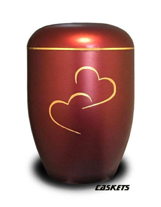 Eco Urn For Ashes Golden Hearts