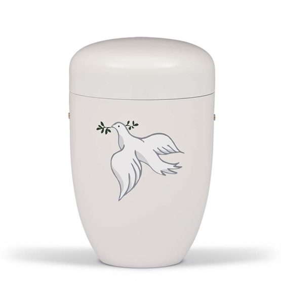 Steel Memorial Urn with a Dove