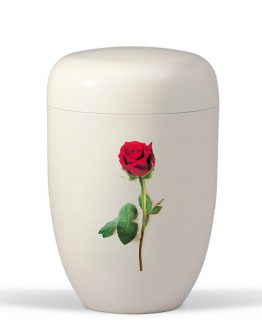 White Funeral Metal Urn for Ashes