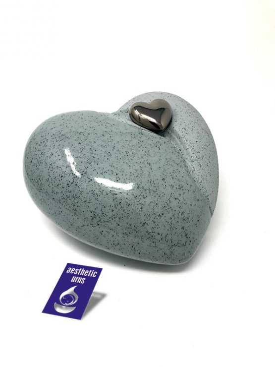 Ceramic Cremation Urn in a Love Heart Shape