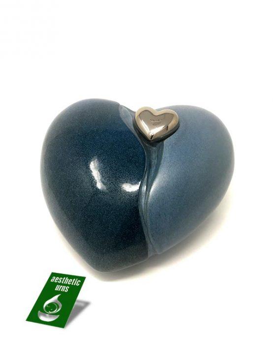 Ceramic Cremation Urn in a Love Heart Shape