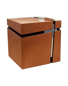 Latin Cross Cube Modern Urn