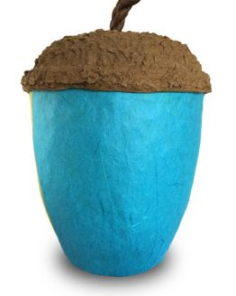Acorn Bio Urn for Ashes Turquoise
