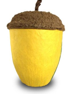 Acorn Bio Urn for Ashes in Yellow