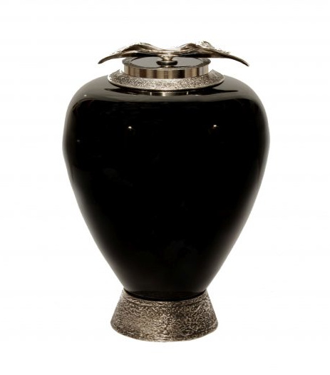 Urn for Ashes with Pearls