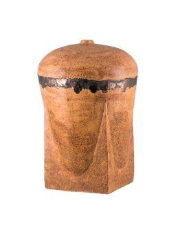 Ceramic Urn for Ashes in brown Matt
