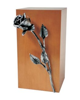 Urn for Ashes Silver Rose