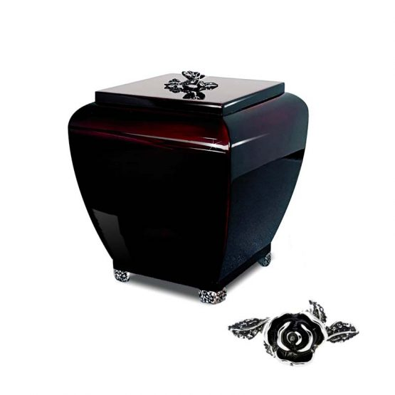 High Gloss Cremation Urn With decoration