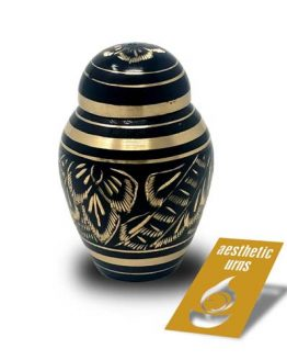 Mini Keepsake Urn for Ashes Black