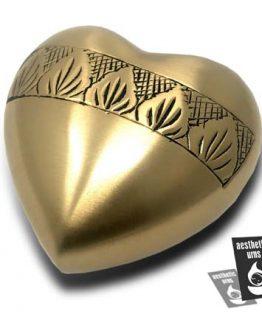 Heart Brass Keepsake Urn