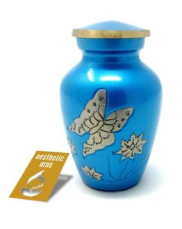 Mini Keepsake Urn for Ashes in Blue