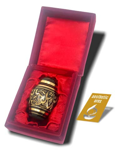Mini Keepsake Urn for Ashes Black