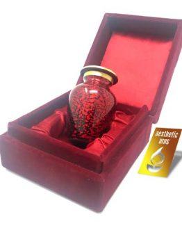 Mini Keepsake Urn for Ashes Red