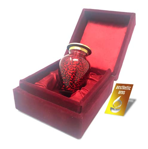Mini Keepsake Urn for Ashes Red