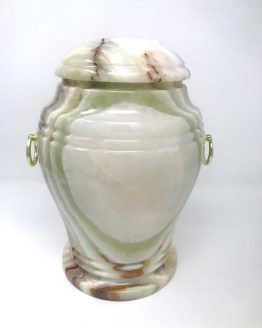 Stone Vase for Ashes in Light Onyx