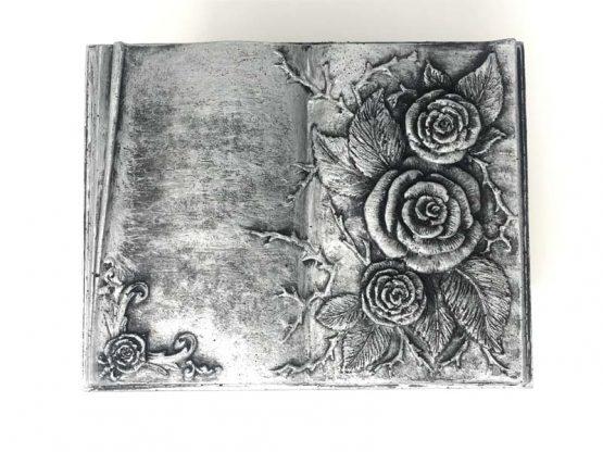 Carved Flowers Funeral Casket