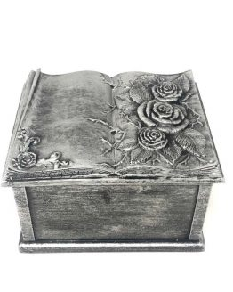 Carved Flowers Funeral Casket
