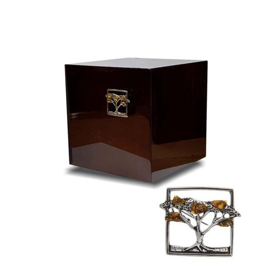 Modern Urn for Ashes with decoration Amber Tree