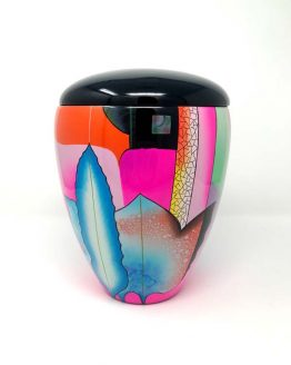 Fibreglass Hand-Painted Urn for Ashes Colour Red
