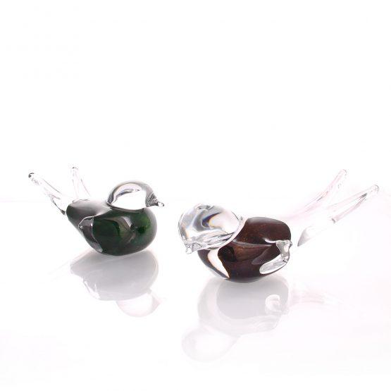 Crystal Bird Keepsake Mini Urn Brown