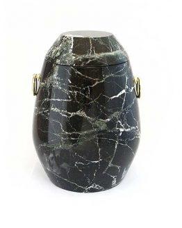Stone Urn for Ashes Black Zebra