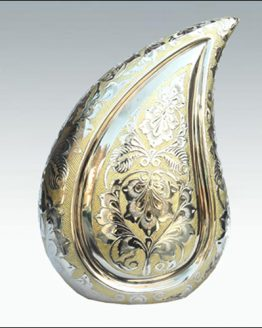 Brass Cremation Urn for Ashes Teardrop