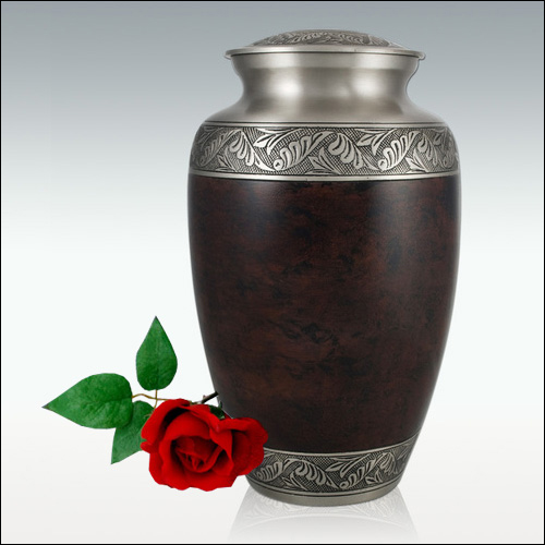 Brass Cremation Urn for Ashes Brown