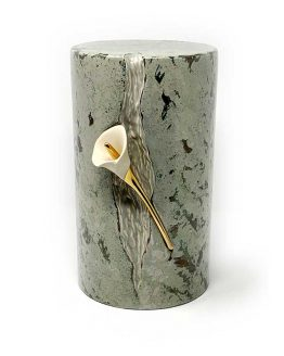 Ceramic Cremation Urn Lily in Statue