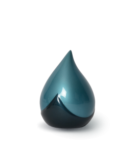Keepsake Teardrop Mini Urn Blue