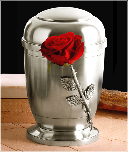 Silver Pewter Cremation Ashes Urn