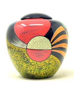 Fibreglass Hand-Painted Urn for Ashes