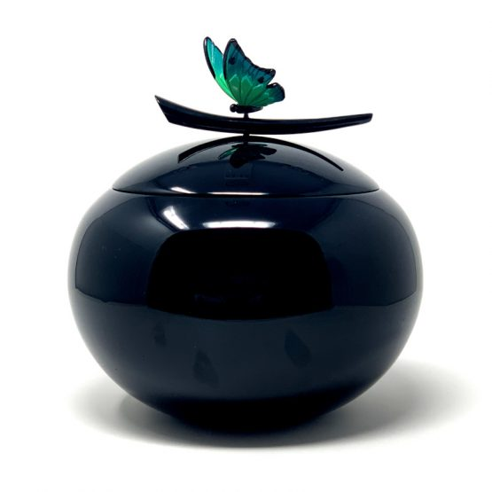 Fibreglass Urn for Ashes with Butterfly