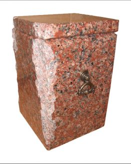 Granite Stone Cremation Urn for Ashes Red