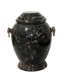 Stone Cremation Urn for Ashes Sand Modern Zebra