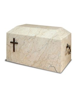 Botticino Stone Ashes Casket Cross